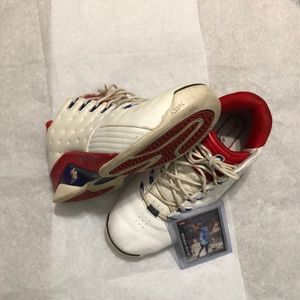 """Vintage Allen Iverson """"answer"""" sneakers with card"""